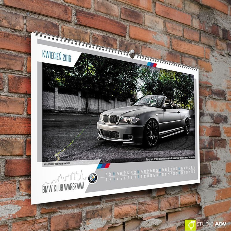 Kalendarz 2016 BMW Klub Warszawa