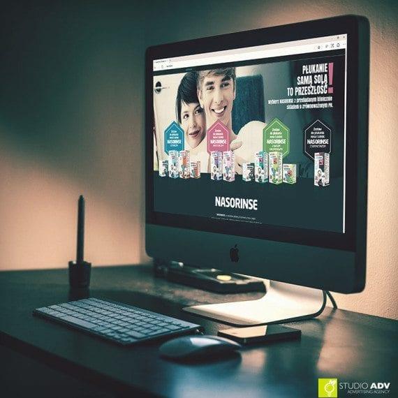 Nasorinse iMac mockup