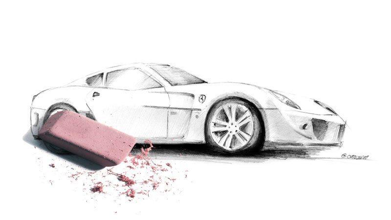 Projektowanie graficzne - rysunek Ferrari