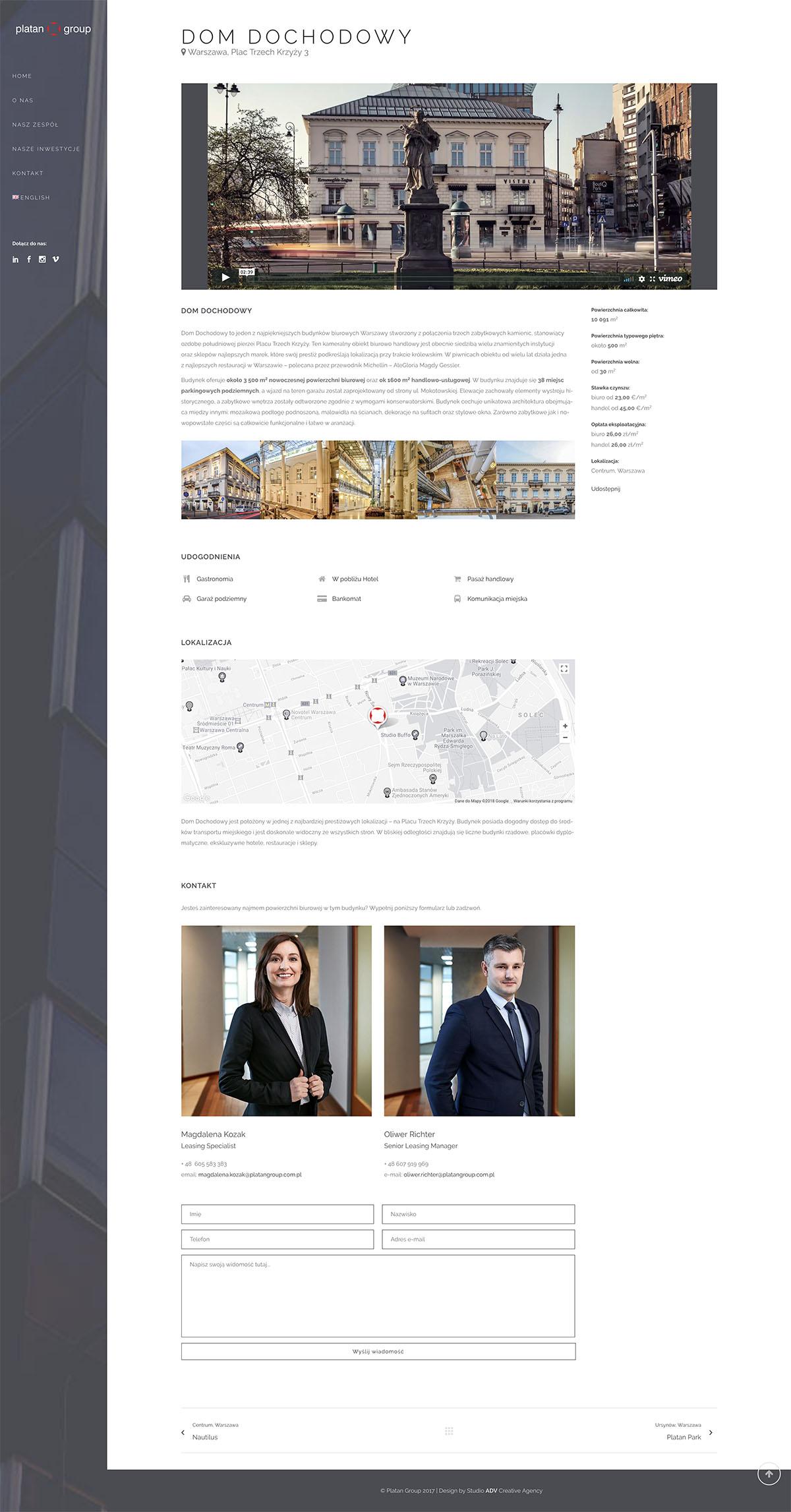 Studio ADV - Platan Group Dom Dochodowy